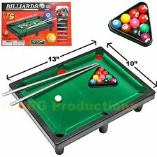 TOP TABLE POOL BILLIARD TOY GAME BOARD GAMES SET NEW IN BOX GREAT FOR KIDS!