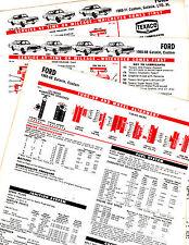1965 1966 1967 1968 1969 - 1971 FORD CUSTOM GALAXIE LTD XL LUBE TUNE-UP CHARTS 2