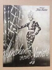 Menschen vom Variete (BFK 2924, 1939) - La Jana / Attila Hörbiger