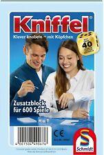 Schmidt 49067 - KNIFFELBLOCK für 600 Spiele, KNIFFEL Zusatzblock Ersatzblock