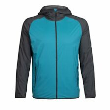 Icebreaker Coriolis Hooded Windbreaker Jacket (M) Mediterranean / Monsoon