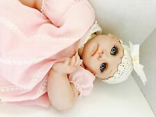 "Vtg 20"" KLOWNS by Kay MCKEE porcelain Baby girl Reborn Doll ice blue eyes 1991"