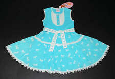 NWT Mim Pi Boutique Blue Carousel Horses Lace Twirl Swiss Dot Dress Euro 116 6