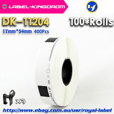 100 Rolls Brother QL-570/700 Compatible DK-11204 Label 17*54mm Adhesive Sticker