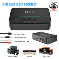 NFC Receiver 5.0 Wireless Bluetooth aptX LL RCA 3.5mm Jack Aux Audio Adapter New