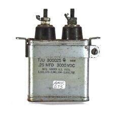 Vintage Cornell-Dubillier Tju 300025G 0.25 Mfd 3000 Vdc Paper in Oil Capacitor