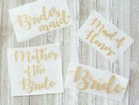 Wedding Iron On Transfer, Bride Iron On, Bridal Party Iron on, Bridesmaid Iron
