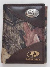 ZEP PRO Georgia Tech Yellow Jackets Mossy Oak Camo  Trifold Wallet TIN GIFT BOX