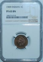 1909 NGC PR65BN Indian Cent Proof Strike