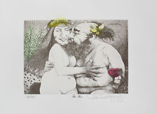 Charles Bragg THE KISS Hand Signed Color Limited Edition Lithograph Art Yr: 1976