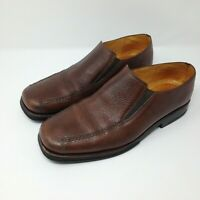 Sandro Moscoloni Slip On Bicycle Toe Mens Brown Size 9.5 Made in Brazil EUC