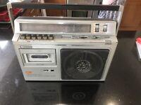 VINTAGE SONY CASSETTE RECORDER 4 BANDS CFM-33L Boombox Ghetto Blaster