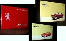 """""""PEUGEOT 304"""" X3 Notice Utilisation Conduite Entretien Auto Car Mecanique c1970"""