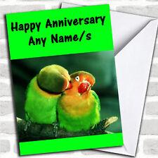 Parrots Anniversary Customised Card