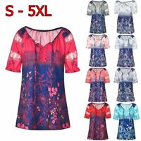 Casual Summer Women Short Sleeve V-Neck Lace Plus Size Tops Loose Blouse T-Shirt