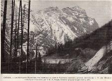 IMAGE 1893 PRINT CANADA LES MONTAGNES ROCHEUSES ROCKY MOUNTAINS