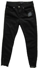 New Womens Marks and Spencer Ankle Length Zip Black Jeggings Size 10 Long DEFECT