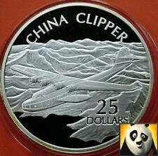 2003 SOLOMON ISLANDS $25 Dollars CHINA CLIPPER Fine .999 Silver Proof Coin
