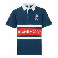 Rugby World Cup 2019 Men's Panel Rugby Shirt | Navy