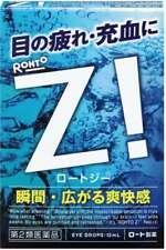 Eye Drops ROHTO Z! 12mL Refreshing and refreshing for eyestrain and redness