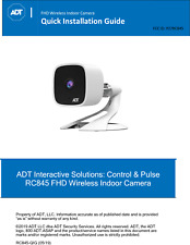 New Adt Pulse Command Control Indoor 1080p Audio Camera Rc845 replaces Rc8326