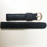 Champion Vintage Tiger Shark 16mm Black Stainless Steel Gold Buckle Watch Band