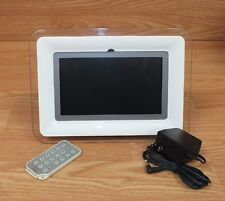 """Genuine Coby (DP-772) White 7"""" (Inch) Screen Digital Photo Frame w/ MP3 Player"""