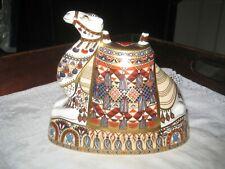 Large Royal Crown Derby Imari Camel Paperweight 17 cm High