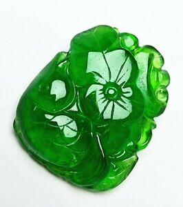 Chinese ,jade,noble collection,hand-carved,jadeite,lotus.fish,pendant G01