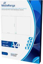 50 MediaRange Bluray 11mm Case Einleger Insert Inlay bedruckbar weiß matt print