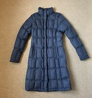 The North Face Womens Long Goose Down Coat Jacket Parka Puffer Size XS Blue EUC