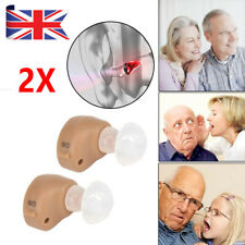 1 Pair Invisible Mini Ear in Hearing Aids Enhancer Amplifier Sound Voice Loudly