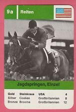 German Trade Card 1968 Olympics Showjumping Gold Medal Winner William Steinkraus