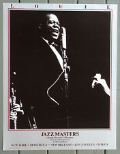"LOUIE ARMSTRONG 22x28 Print ""LOUIE"" 1964 JAZZMASTERS 1984 Exhibition RARE O/P"