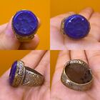 Vintage Islamic Lapis  Ring  Post Medieval Ottoman Empire Style Middle East