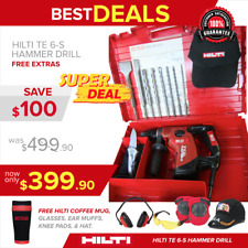 HILTI TE 6-S CORDED ROTARY HAMMER DRILL, GREAT CONDITION,(EXTRAS), FAST SHIPPING