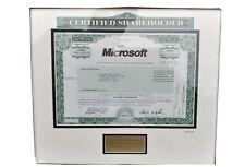 Microsoft Corp Shareholder One Share Stock Certificate Nov 19 2010 - Scripophily