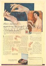 Antique CUTEX Manicure Fingernail Nail Polish Beauty FARRAR Cosmetology Art Ad