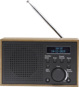 Denver DAB-46 Tischradio Tragbar DAB+, UKW Grau Retro