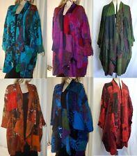 Boho Patchwork Coat Jacket Robe 14 16 18 20 22 24 26 28 Swirl Clothing Hippy