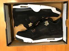 Nike Air Jordan 4 Retro BG Royalty Black Gold 408452 032 Youth Size 6Y NO BOXTOP