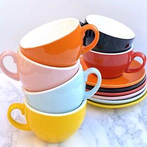 TAMPR Coffee Glaze™ 8oz Flat White/Cappucino Coffee Cup & Saucer