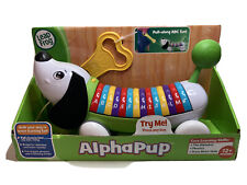 New in Box Leap Frog Alphapup Puppy Dog Green Pull Along Learn Abc's