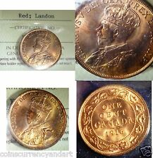 1916 CANADA LARGE CENTS -FULL RED