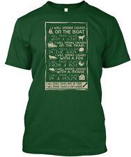 I Will Smoke Cigar On The Boat With A Goat In Train Rain Fox Premium Tee T-Shirt