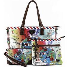 LANY6080 3 in 1 Fashion Travel Print Handbag