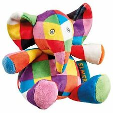 Rainbow Designs Elmer The Elephant Soft Toy Rattle Baby Toys Activities