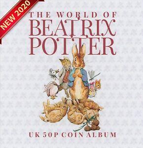 50p Coin Album Beatrix Potter Peter Rabbit Fifty Pence Collectors Gift [C] TH1