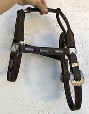 Vintage Old Taxco Etched Mexico Sterling Silver Western Headstall Halter Horse