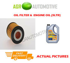 PETROL OIL FILTER + LL 5W30 ENGINE OIL FOR MAZDA MPV 2.3 141 BHP 2002-06